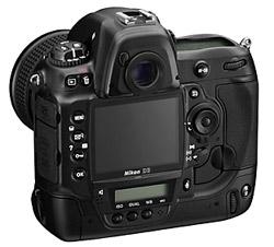 Nikon D3 back view