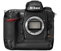 New Nikon D3 SLR - front view